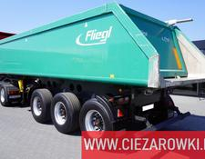 Fliegl tipper semi-trailer DHKA 350 /24m3/load 29,600kg / SAF / lift axle