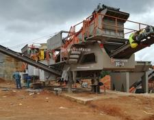 Constmach mobile crushing plant 60-80 tph MOBILE GRANITE CRUSHING PLANT