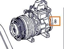 AC compressor for MERCEDES-BENZ ATEGO 923,923 L truck