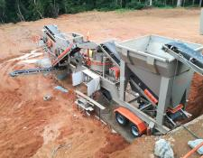 Constmach mobile crushing plant 100 tph CAPACITY MOBILE VSI CRUSHING PLANT