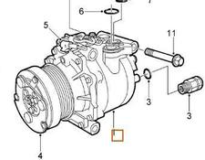 AC compressor for Saab 9-3 Berlina (2003->) 2002 automobile