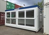 Verglaster Bürocontainer