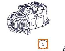 AC compressor for MERCEDES-BENZ Clase S Berlina (BM 220)(1998->) 3.2 320 CDI (220.026) [3,2 Ltr. - 145 kW CDI CAT] truck